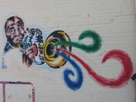 Luis Armstrong Mural by HumbleQuietOne