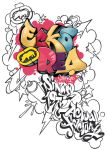 Graffiti Coloring book by Initial-Dzines