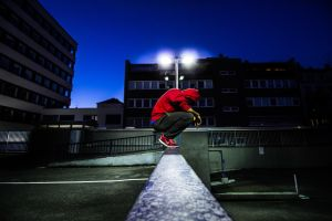 Parkour night session by marcelquyen