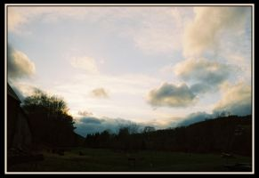 Sun and Clouds with Barn 2 by Donohue