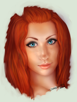 2 hour portrait of Kiera by Danesippi