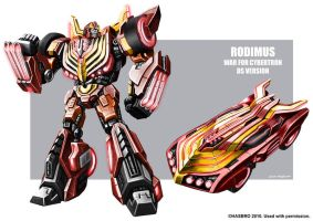 Rodimus WFC concept art by MarceloMatere