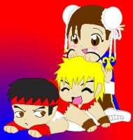 Dog pile on Ryu by 2ndCityCrusader