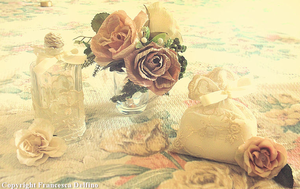 Bottles and flowers by FrancescaDelfino