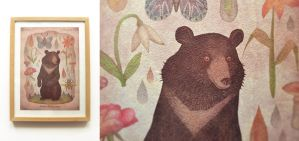 Asian black bear - print by V-L-A-D-I-M-I-R