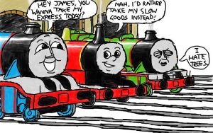 'Unlikely convos between Gordon, Henry and James' by 01Salty