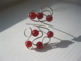 red jade wire wrapped ring by faranway