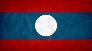 Laos Grunge Flag by SyNDiKaTa-NP