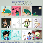 2012 Year in Art by SecretagentG