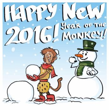 Happy new year of the monkey by fan4battle