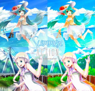 Photoshop Action 01: Summer by FlowerAkane
