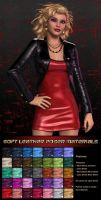 Pd-Soft Leather Poser Materials by parrotdolphin