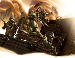 Teenage Mutant Ninja Turtles by G-man2000