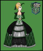 Slytherin Rococo Dress by Shadowglove