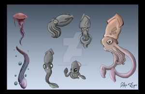 Sea Life Character Exploration by Xan-Salstone