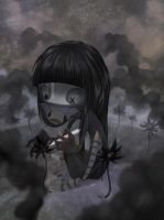 painting black flowers! by Meammy