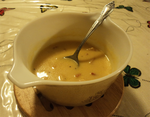 Bacon-cheddar potato soup by The-Clockwork-Crow