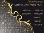 Damask wallpaper by Lileya