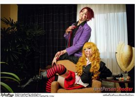 Umineko Cosplay: Double Homicide: Beato x Battler by Redustrial-Ruin