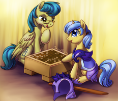 Friendly game of shogi by ShinePawPony