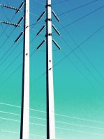 Power Lines by johnstiles