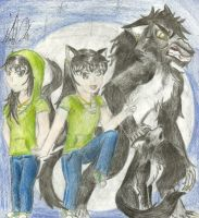 Me - werewolf anime version by DracorusTerra