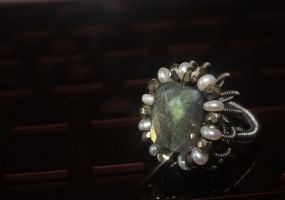 Flash of Vintage Ring by CrysallisCreations
