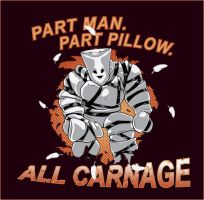 Part Man Part Pillow All Carnage by steevinlove