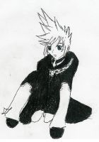 Contemplating Roxas by Sky-Pirate-Tat