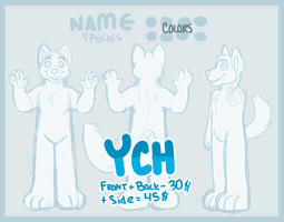 Fursuit Reference Sheet YCH by catdoq