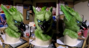 Likeshine the green gryphon mask! by Crystumes