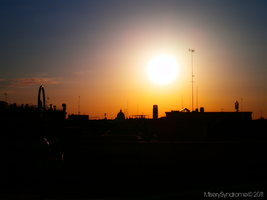Sunset over the city II by MiserySyndromex3