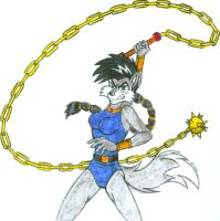 Chain Whip Wielder Lupe - Colored by dragonheart07
