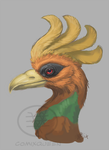 Ho-oh Portrait WIP by comixqueen