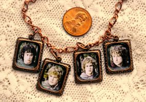Lord of the Rings Hobbits Copper Charm Bracelet by elllenjean