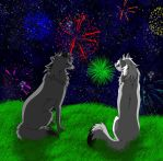 Request: Watching The Fireworks by Mihiru93
