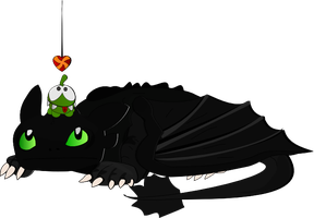 Om Nom and Toothless by AjwolfTill