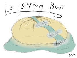 Doodle of the Day I -- Le Stream Bun by KrystalSkyWorks