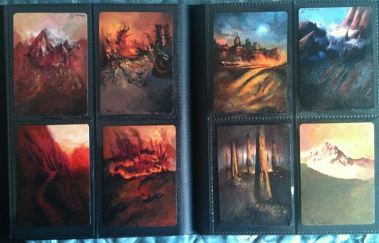 MTG Painted Mountains by Leustante