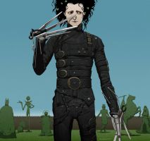 E is for Edward Scissorhands by doubleleaf
