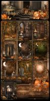 Magic Halloween backgrounds by moonchild-ljilja