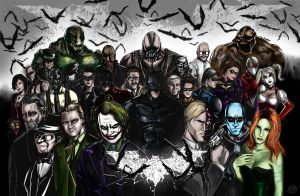 Batman Rogues Gallery Nolan style by OngJ