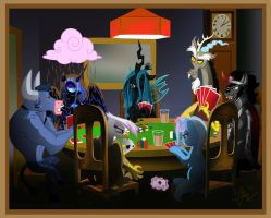 Poker Night (A Pony in Need) by JoelletheNose