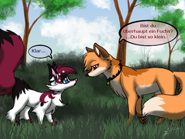 Gift - A fox meets a fox? by Ninchiru