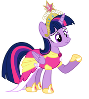 Twilight Sparkle princess vector by DimetraPaywer