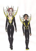 69th Hunger Games: District 5 Chariot Costumes by 13foxywolf666