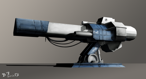 Gun Turret 3D Paintover by Lazarus-Firenze