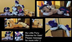 My Little Pony Beanies FOR SALE NOW ON ETSY STORE! by Airidesi