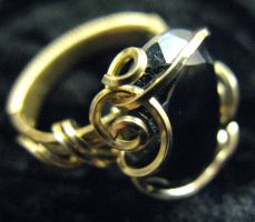 Revised hematite ring by DPBJewelry