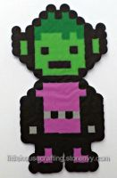 Teen Titans Beast Boy Perler by LittleHouseCrafting
